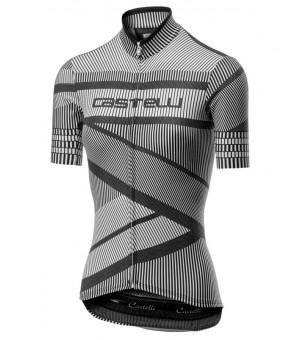 Castelli Millerighe Jersey W cyklistický dres čierny/biely