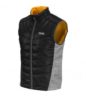 Colmar Hybrid Vest black/grey melange/corn yellow vesta