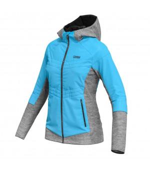 Colmar Hooded Hybrid Jacket W light blue/grey melange bunda