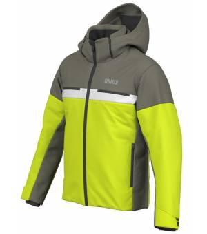 Colmar Greenland M. Down Ski Jacket Lime/Jungle/White bunda