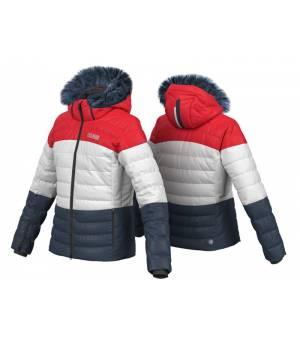Colmar Olimpia Ladies Down Jacket White/Bluer/Red bunda