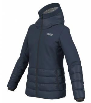 Colmar Verbier Ladies Ski Jacket Down Blue Black bunda