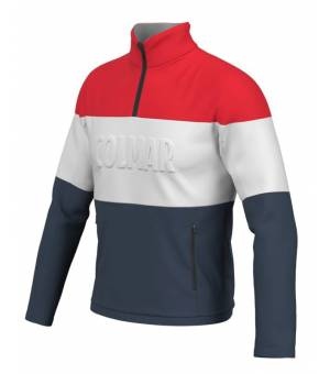 Colmar Mens Colourblock Thermal Ski Sweater Blue/White/Red mikina
