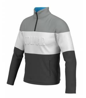 Colmar Mens Colourblock Thermal Ski Sweater Black/Grey/White mikina