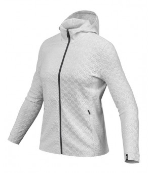 Colmar Ladies Full Zip Jacquard Fleece Hoodie White mikina