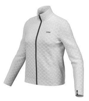 Colmar Ladies FZ Jacquard Fleece Hoodie White mikina