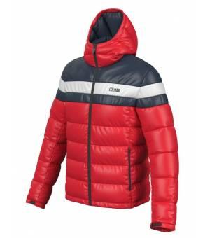Colmar Mens Hooded Puffy Down Jacket Red bunda