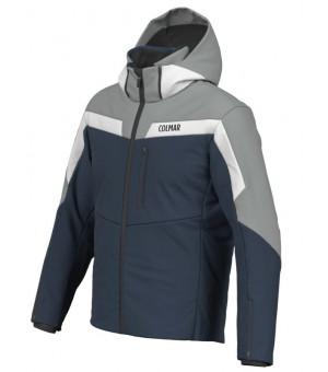 Colmar Golden Eagle Mens Ski Jacket Blue Black-Greystone-White bunda