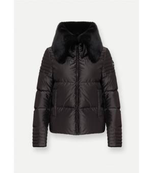 Colmar Ladies Research Fur-Collared Down Jacket Black bunda