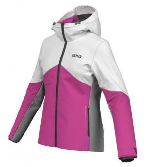 Colmar Iceland Ski Ladies Jacket Bunda Cyclamen-White-Greystone
