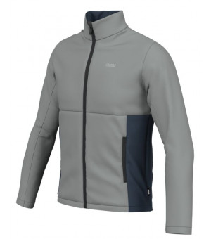 Colmar Mens Full Zip Stretch Fleece Greystone-Blue Black mikina