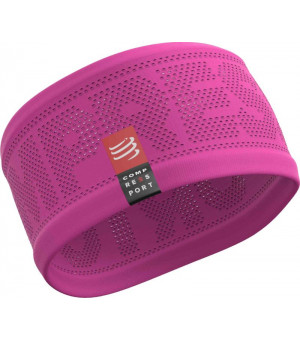 Compressport headband ON/OF čelenka ružová