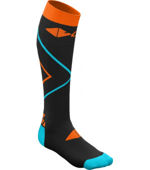 Crazy Idea Compression Socks black/orange ponožky