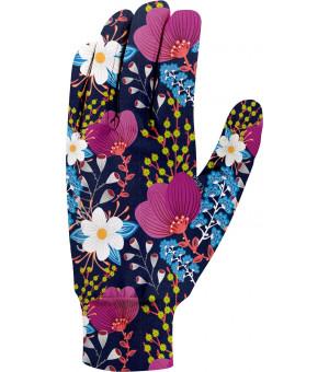 Crazy Idea Touch W Gloves print bouquet rukavice