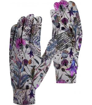 Crazy Idea Touch W Gloves print felci white rukavice