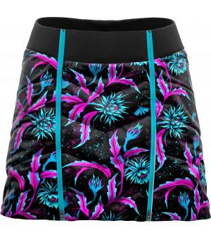 Crazy Idea Feel W Skirt night flower sukňa
