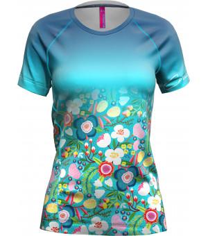 Crazy Idea Mountain Flash T-Shirt W dardik flower tričko
