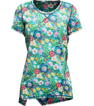 Crazy Idea Aloha T-Shirt W dardik flower tričko