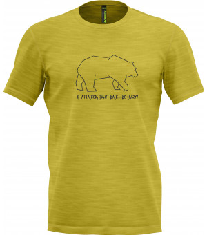 Crazy Idea Animals M T-Shirt sulfur tričko