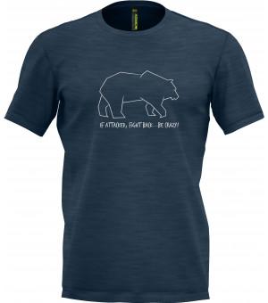 Crazy Idea Animals M T-Shirt blue tričko