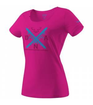 Dynafit Graphic Cotton W T-Shirt lipstick/equipment tričko