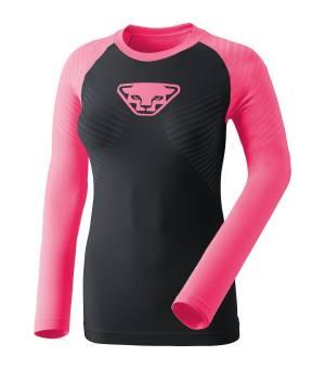 Dynafit Speed Dryarn W Longsleeve fluo pink tričko