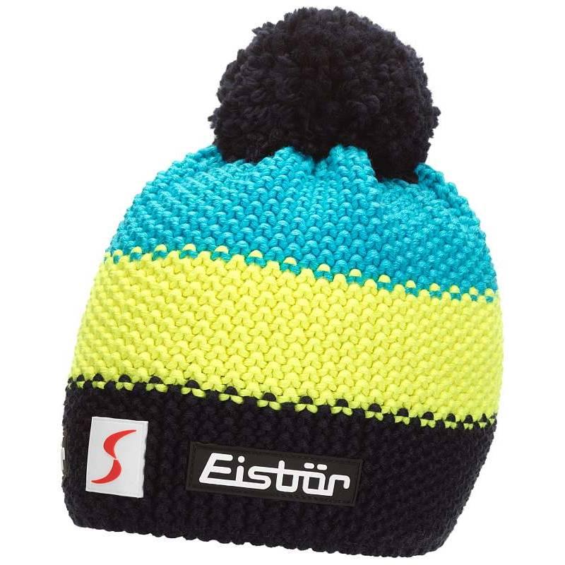 b06df8d85 Detská zimná čiapka EISBÄR STAR NEON POMPON KIDS modro-žltá | Galfy.sk