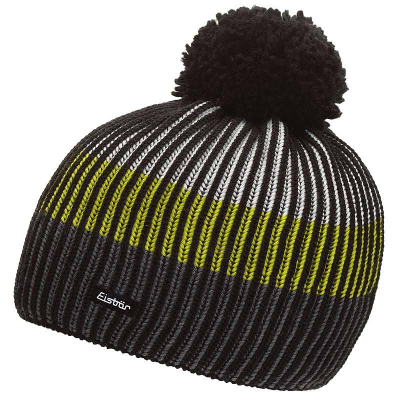 a3d3346f9 Detská zimná čiapka EISBÄR NEW STAR NEON POMPON KIDS čierno-žltá ...