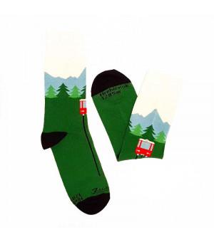 Fusakle Hrebienok ponožky zelené