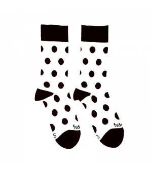 Fusakle Guličkár Džekson ponožky bieločierne