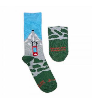 Fusakle Lomničák ponožky modrozelené