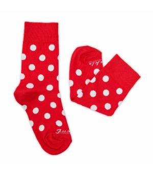 Fusakle Detský Komáčik ponožky červené