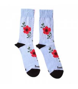 Fusakle Šípová Ruža ponožky modré