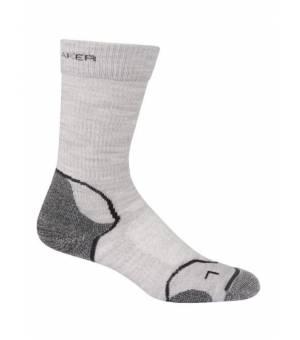 Icebreaker Hike and Light Crew ponožky sivé