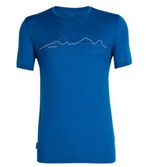 Icebreaker M Tech Lite SS Crewe Tričko modré