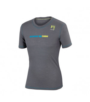 Karpos Profili lead grey/bluette tričko