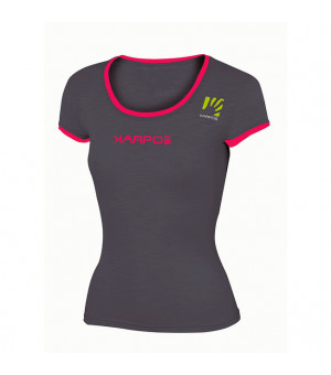 Karpos Profili W dark grey/raspberry tričko