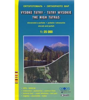 VYSOKÉ TATRY 1:25 000 ORTOFOTOMAPA – SK., PL., ANG. 3302