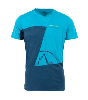 La Sportiva Workout T-Shirt M opal/tropic blue tričko