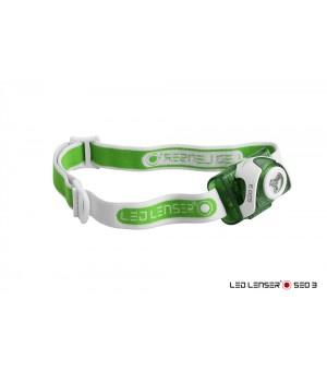 Led Lenser Čelová lampa Seo 3 zelená