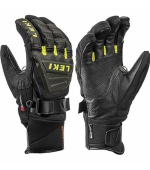 Leki Glove Race Coach C-Tech S rukavice Black/Ice Lemon
