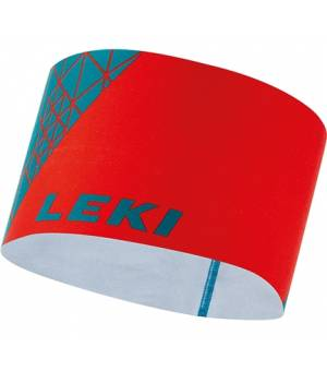 Leki 4 Season Headband Neonred/Turquoise čelenka