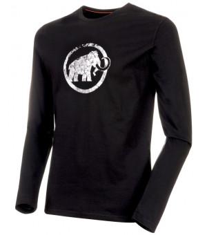 Mammut Logo M Longsleeve black tričko