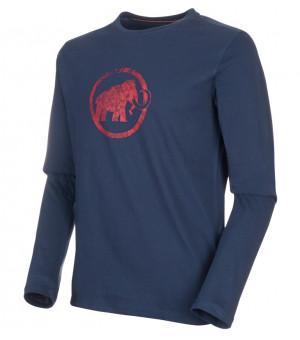 Mammut Logo M Longsleeve peacoat tričko