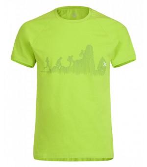 Montura Sporty T-Shirt verde acido tričko