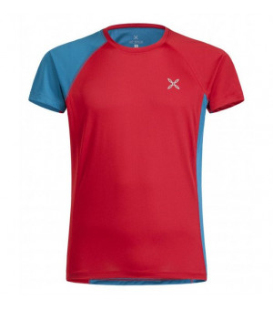 Montura World Mix T-Shirt rosso/blu ottanio tričko