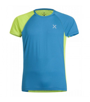 Montura World Mix T-Shirt blu ottanio/verde acido tričko