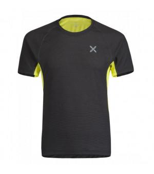 Montura Skin 2 T-Shirt nero/giallo zolfo tričko