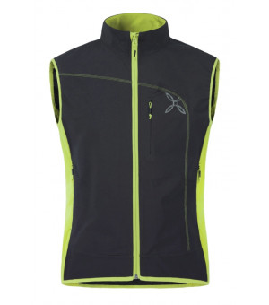 Montura Run Power Vest nero/verde acido vesta