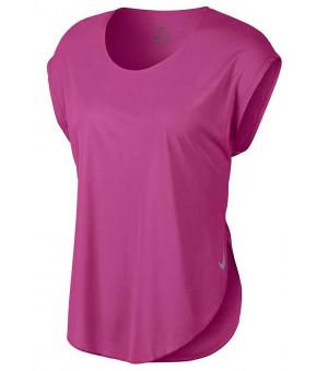 Nike W City Sleek tričko ružové